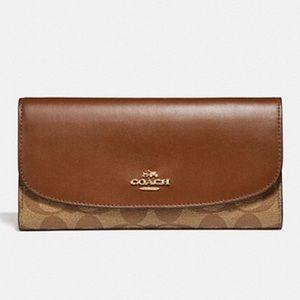 Coach checkbook wallet